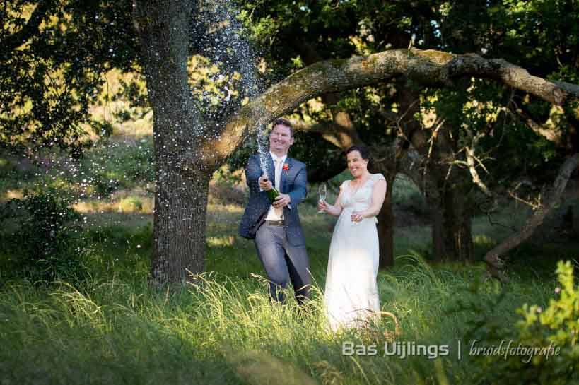 Champagne op bruiloft in zuid afrika