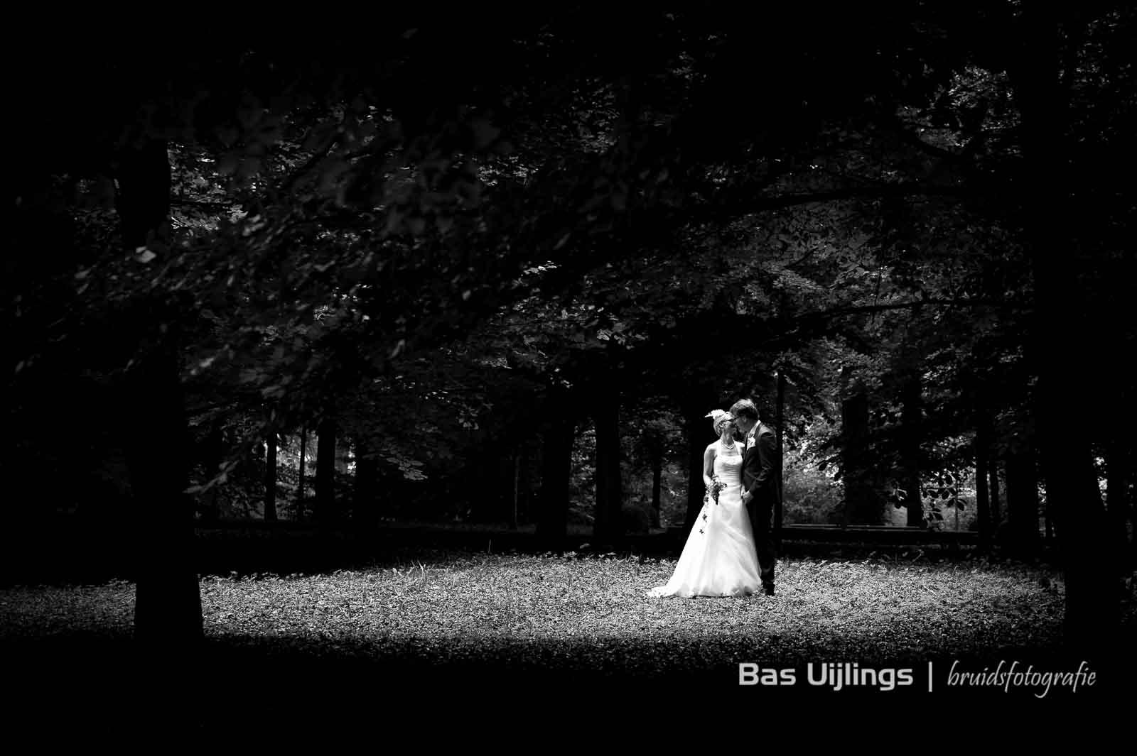 bruidsfotografie in bos