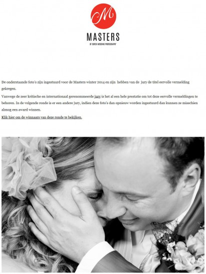 Eervolle vermelding Masters 1 1-2015