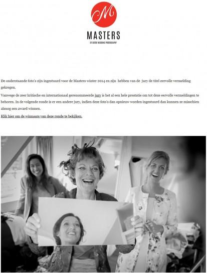 Eervolle vermelding Masters 2 1-2015