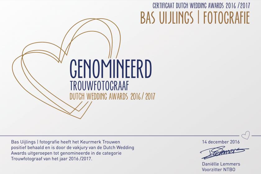 Genomineerd: Beste bruidsfotograaf van Nederland 2017