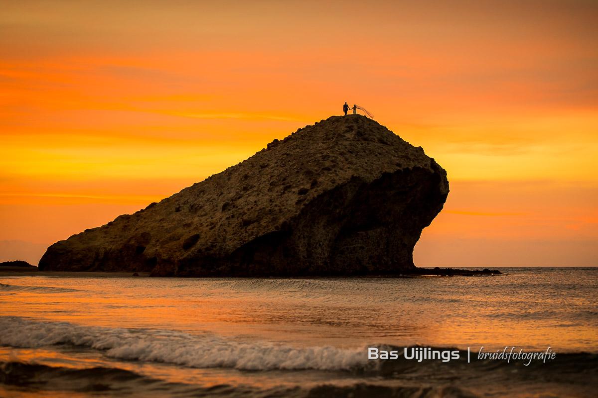 beste moment om trouwfoto's te maken is zonsopkomst in Spanje