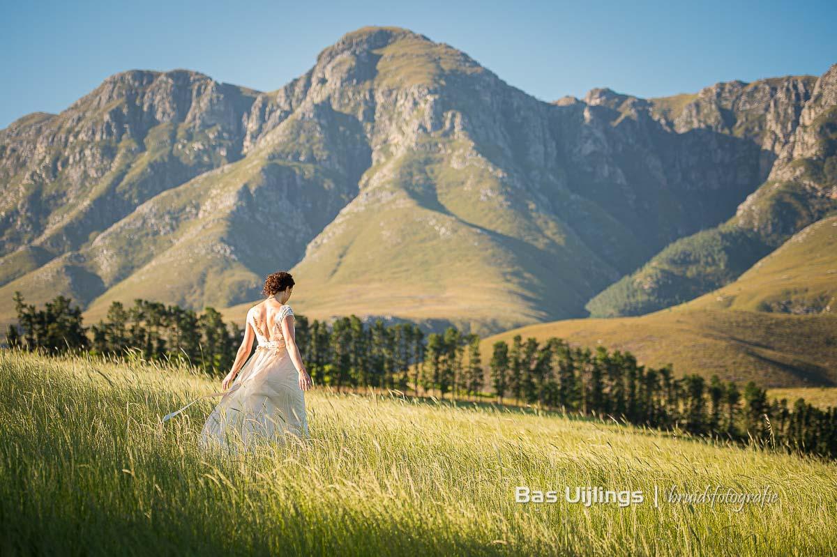 Fotoshoot in zuid Afrika bruid
