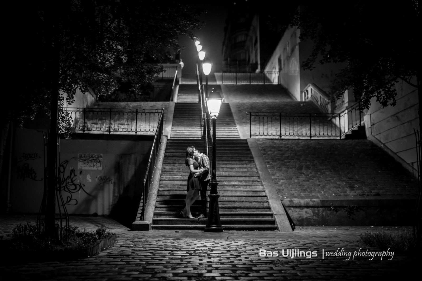 Loveshoot Parijs Montmartre nacht
