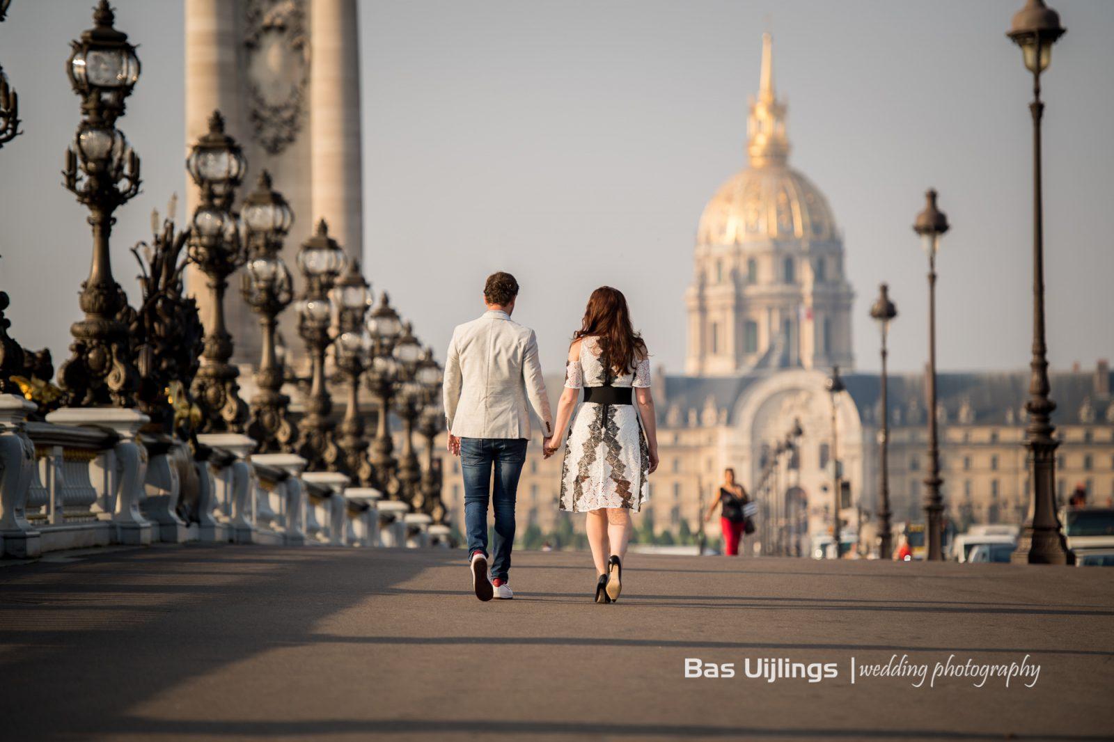 Aanstaand bruidspaar in Paris