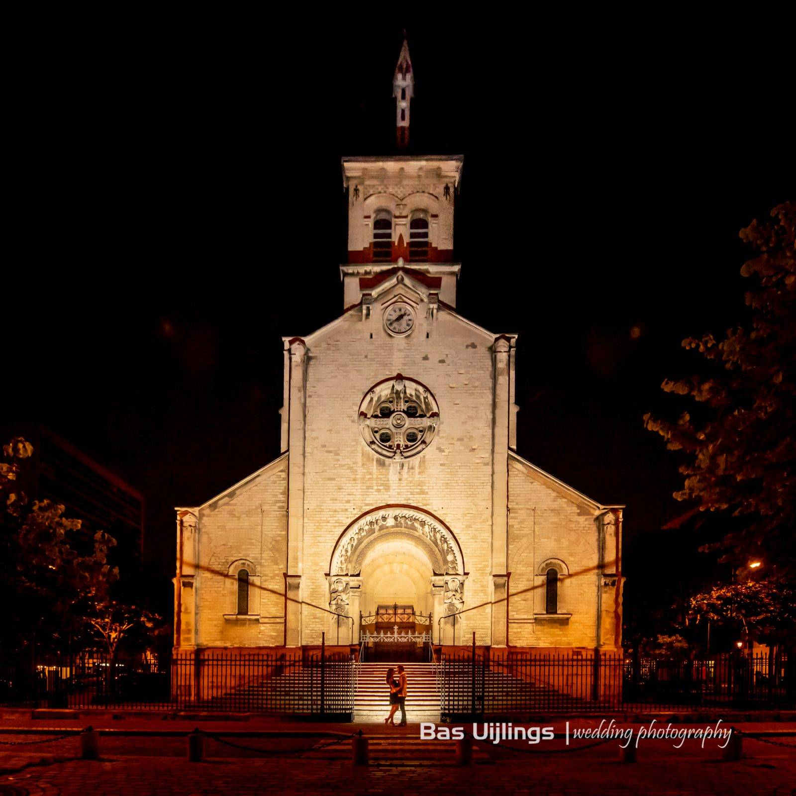 Loveshoot Parijs by night church