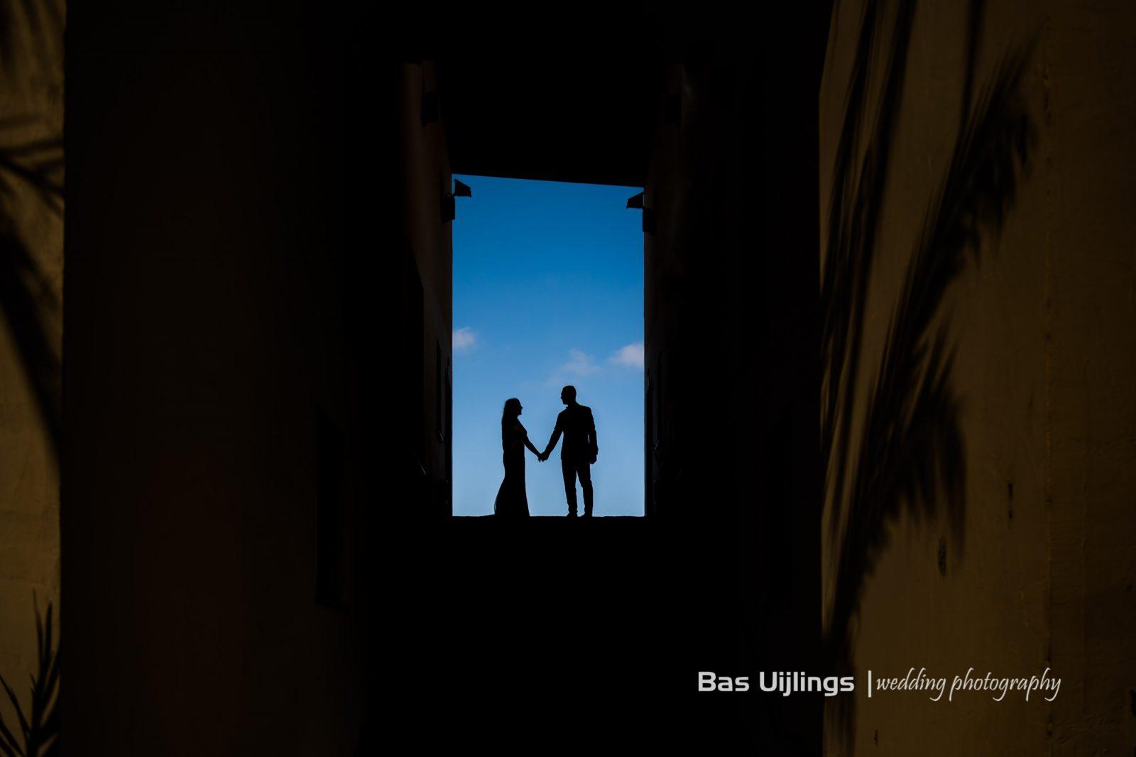 silhouette bruidspaar ibiza