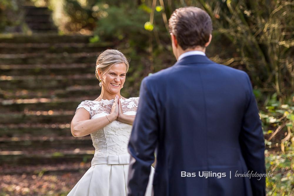 First look bruidspaar Kasteel Hooge Vuursche Baarn