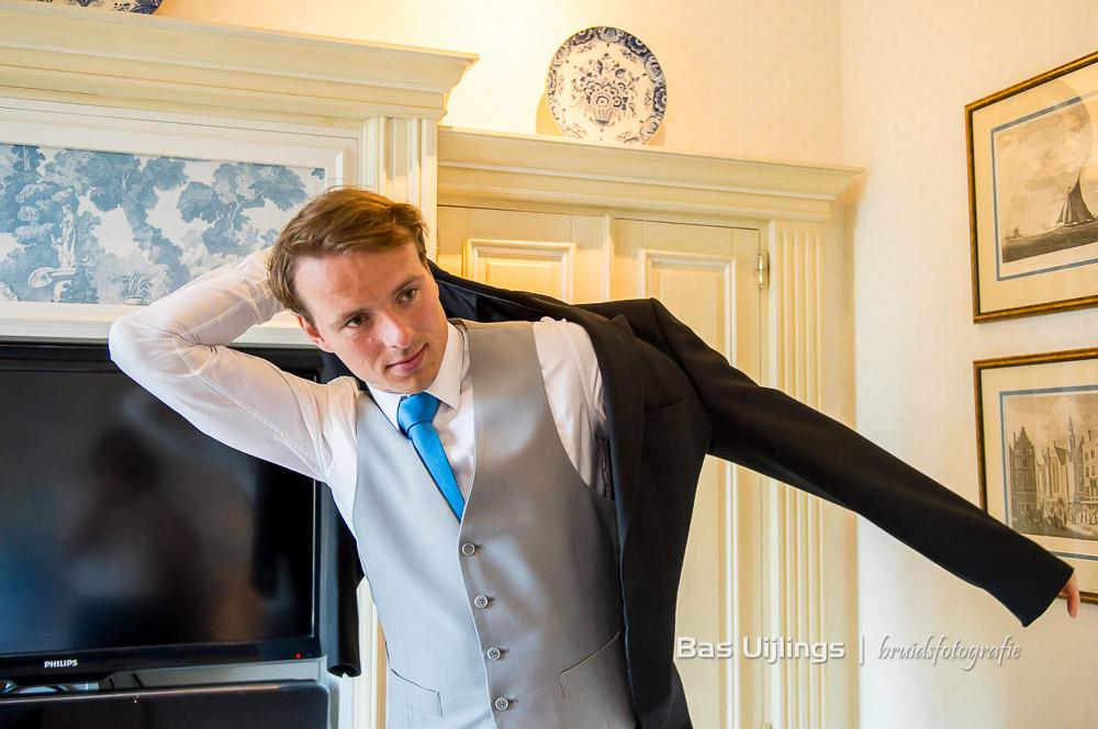 aankleden bruidegom Amstel Hotel Amsterdam