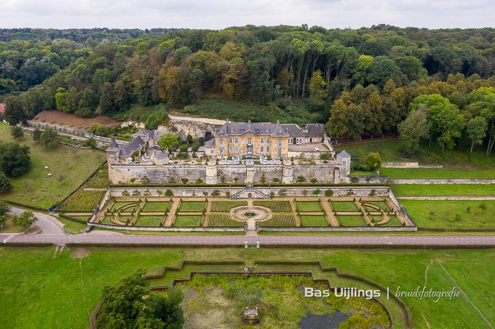 bruidsfotografie met minimaal twee fotografen chateau Neercanne Limburg