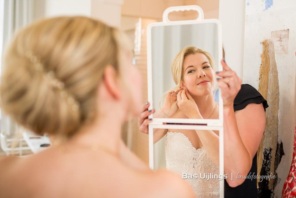 Voorbereidingen bruid Hotel Arena in Amsterdam