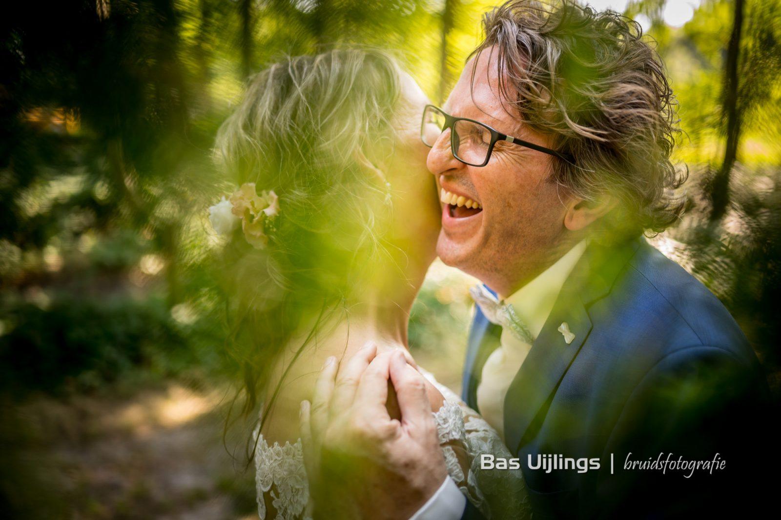 Bruidspaar emotie humor fotoshoot