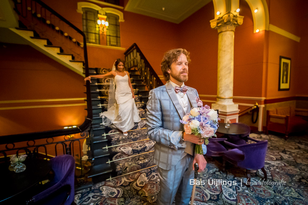 First look bruidspaar Hotel des Indes Den Haag