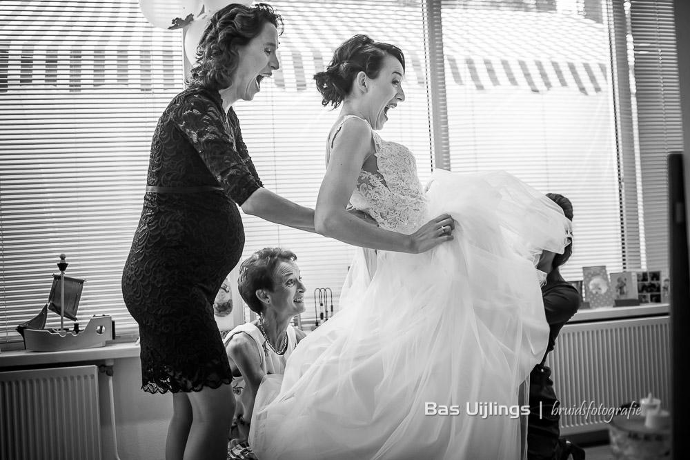 voorbereidingen bruid trouwdag
