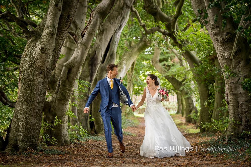 foto bruidspaar Kasteel van Buitenplaats Amerongen
