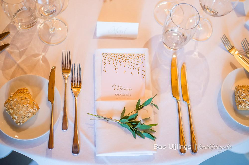 Dinerstyling bruiloft Kasteel Amerongen